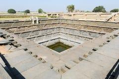Water tank of Royal Enclosure temple at Hampi Stock Image