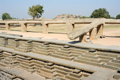 Water tank of Royal Enclosure temple at Hampi Royalty Free Stock Photography