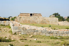 Water tank of Royal Enclosure temple at Hampi Stock Photos