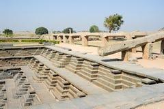 Water tank of Royal Enclosure temple at Hampi Royalty Free Stock Photography