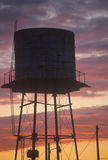 A water tank at sunset Royalty Free Stock Image
