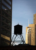 Water tank on top of a building, Chicago, Cook Stock Photos