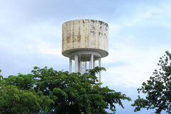 Water Tank Towers. Elevated storage tank Royalty Free Stock Image