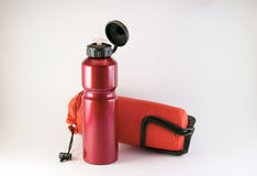Water tank traveler. Vessel from which drinking athletes and travelers Royalty Free Stock Image