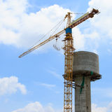 Water tank under construction royalty free stock photography