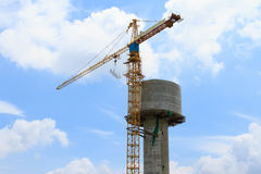 Water tank under construction Royalty Free Stock Photos