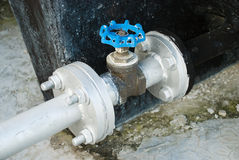 Water Tank Valve with Pipe lines Royalty Free Stock Image