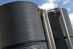 Water Tanks Royalty Free Stock Photo