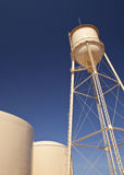 Water Tanks and Blue Sky Stock Photos