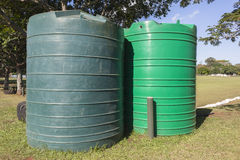 Water Tanks Field Stock Photography