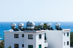 Water Tanks On The Roof, Stock Photography