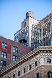 Water tanks on top of buildings in New York Stock Photos