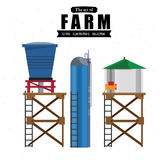 Water tanks -. Vector illustration of water tanks Stock Photography
