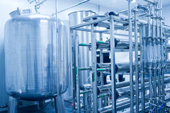 Water tanks, water treatment equipment. Pure water processor,Water tanks, water treatment equipment Royalty Free Stock Images