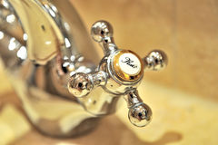 Water Tap. A water tap for hot water Royalty Free Stock Photos