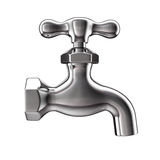 Water tap. Isolated on white background stock illustration