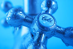 Water tap. Water drops on metallic tap Stock Photography