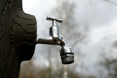 Water tap. Tap for fresh drinking water Royalty Free Stock Images
