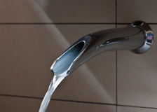 Water tap. Morning water tap in the bathroom Royalty Free Stock Photo
