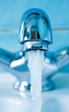 Water tap. Front view of a modern water tap Royalty Free Stock Images