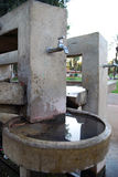 Water tap. At a park relaxation area Stock Photos