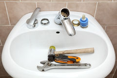 Plumber tools Stock Images