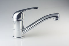 Water tap closeup. On white background Royalty Free Stock Photo