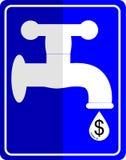 Water tap dropping dollar Royalty Free Stock Photos