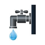 Water tap or faucet with droplet Stock Photos