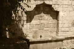 Water tap in a fortification wall.Kalemegdan. Stock Images