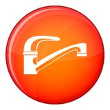 Water tap icon, flat style Stock Photography