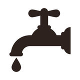 Water tap icon. Isolated on white background Stock Photography