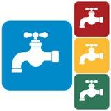 Water tap icon Stock Photos