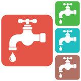 Water tap icon Stock Image