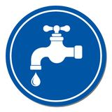 Water tap icon. Vector illustration Stock Photos