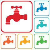 Water tap icon. Vector illustration Royalty Free Stock Images