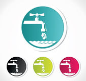 Water tap icons Stock Photos