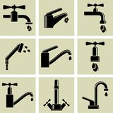 Water tap icons Stock Image