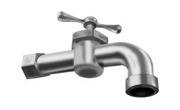 Water tap isolated faucet valve plumbing Stock Photo