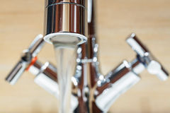 Water tap with modern design Stock Photo