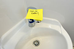 Water tap out of order Royalty Free Stock Images