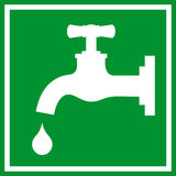 Water tap sign Stock Photo