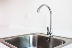 Water tap and sink Royalty Free Stock Image