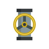 Water tap steel wet silver part of machinery flat icon work gear mechanical equipment vector. royalty free illustration