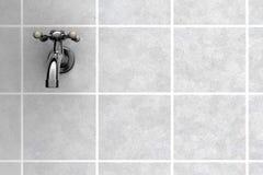 Water Tap on tiles vector illustration