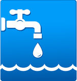 Water tap and wave Stock Image