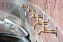 Water taps Stock Photo