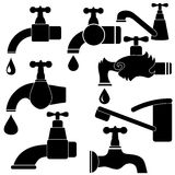 Water Taps and Drops Royalty Free Stock Photography
