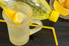 Water with taste of lemon Royalty Free Stock Photos