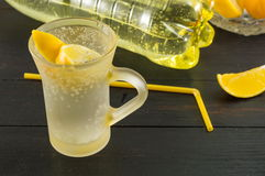 Water with taste of lemon Stock Photo